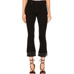 rag & bone 10 inch Crop Flare Released-Hem Jeans